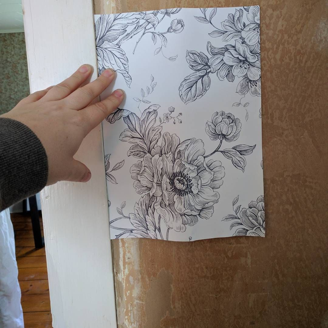 Guest Picks Up The Wall: We Picked A Wallpaper For The Guest Room Accent Wall