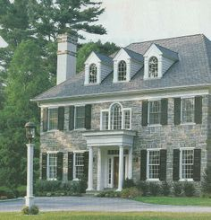 stone colonial hipped roof - Google Search