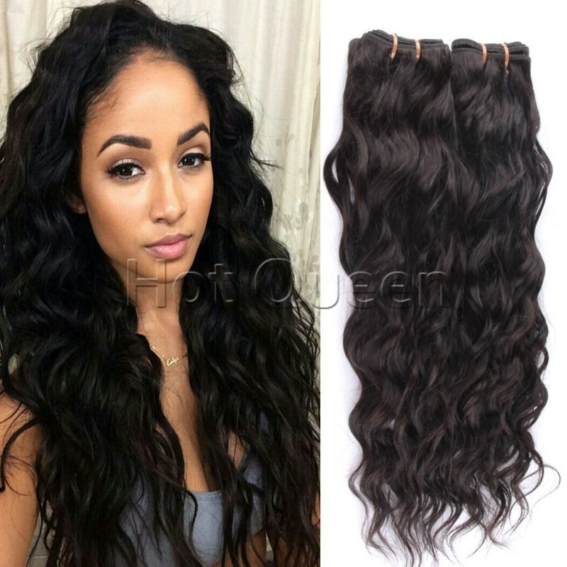 3pc 6a Brazilian Virgin Water Wave Curly Weave Bundles Human Hair