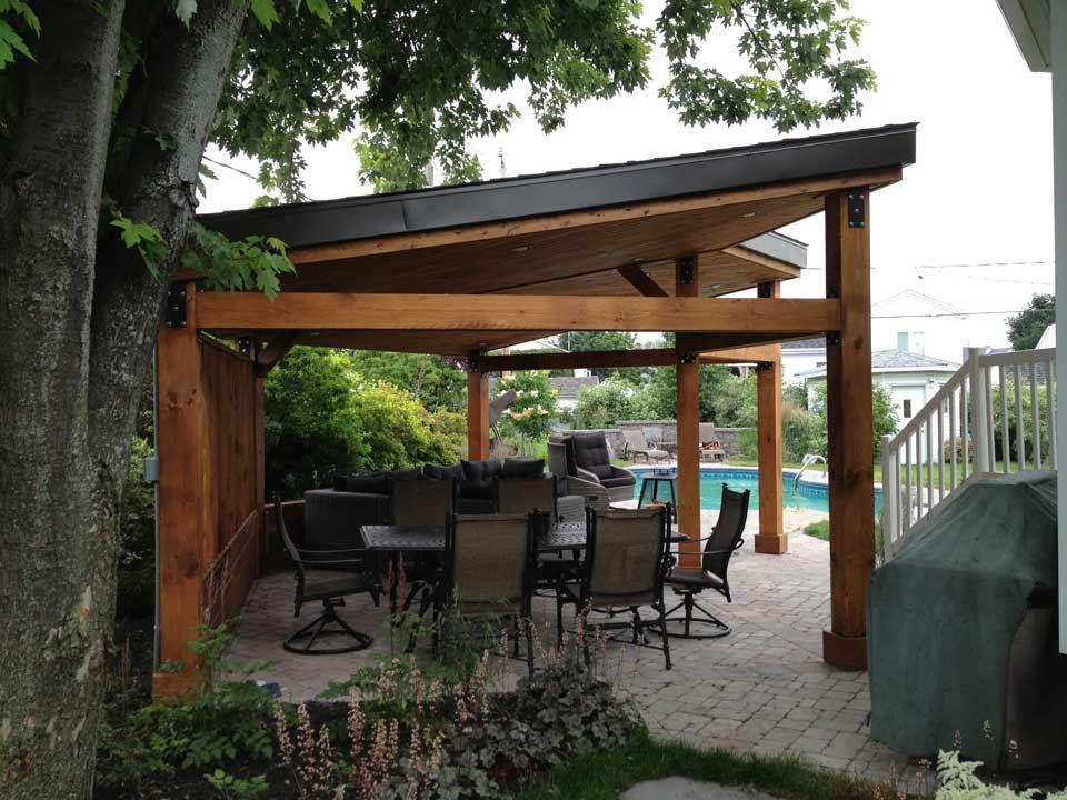 gazebo moderne design et r alisation pur patio ce gazebo. Black Bedroom Furniture Sets. Home Design Ideas