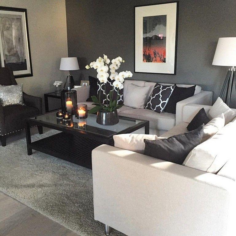Pin by linda scott on livingroom living room designs - Black and cream living room decor ...