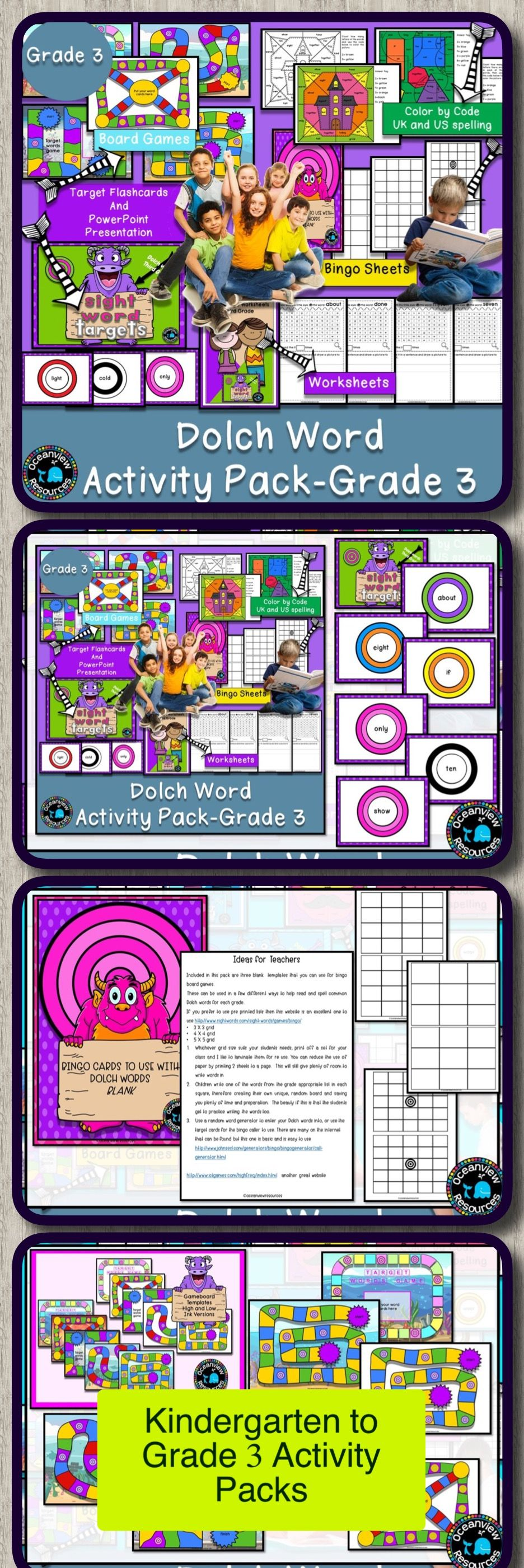 Dolch word Activity PackGrade 3 Dolch words activities