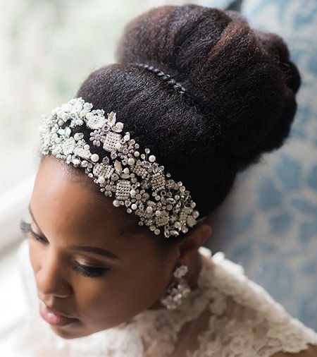 Natural Hairstyles For Wedding Day: Afro Puff With Headband - Google Search …