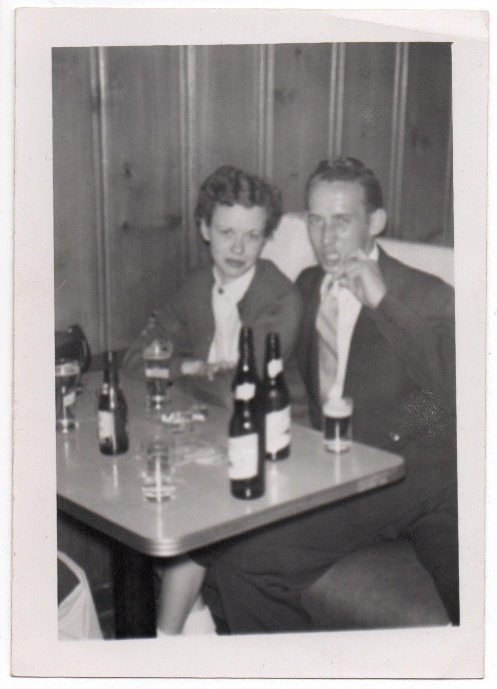 4 Vintage Snapshots ca.1940s50s CORNER BAR Friendly