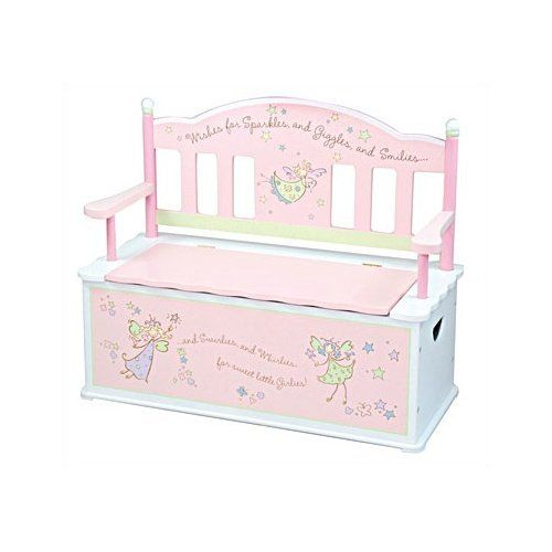 Walmart Levels Of Discovery Fairy Wishes Kid S Storage Bench Kids Storage Bench Storage Bench Seating Kids Bench