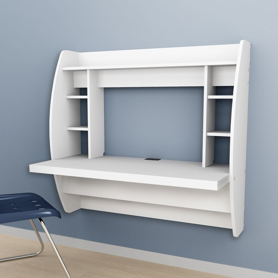 prepac furniture white wall mounted desk small creative spaces rh pinterest com