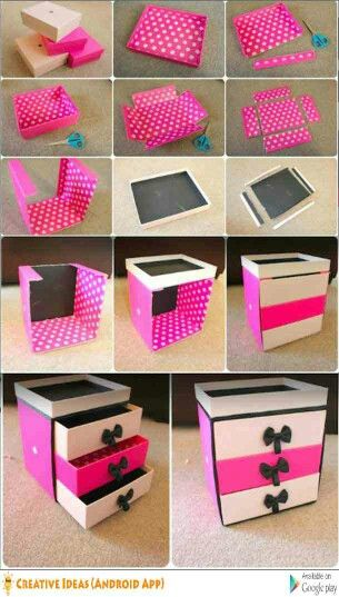 Jewelry Box El Paso Makeup Or Jewelry Box Made With Cardboard Box  Art N Craft