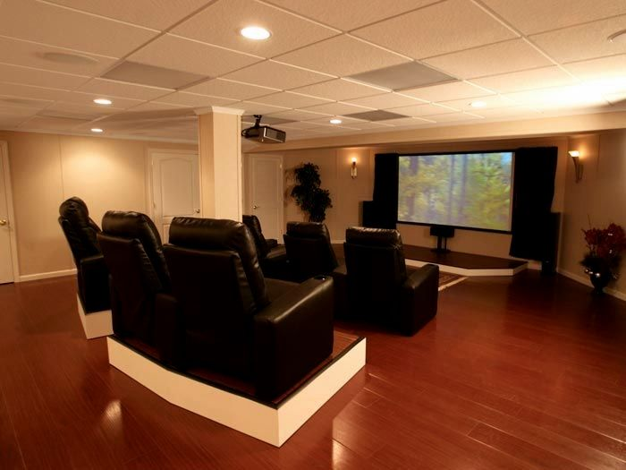 finished basement home theater in a finished basement basement rh pinterest it