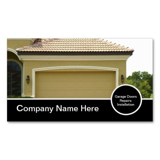 Garage Door Business Cards This Is A Fully Customizable Card And Available On Several Paper Types For Your Needs You Can Upload Own Image Or