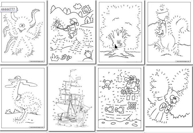 90 Dibujos para Imprimir y Unir Puntos | Fichas para Unir Puntos ...