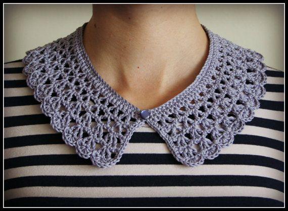 Detachable Crochet Collar Pattern Pdf Download Diy By Eadenyarns