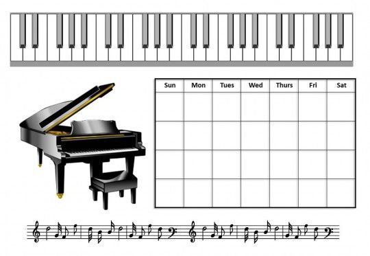 Music Practice Chart  Music    Chart Pianos And Piano