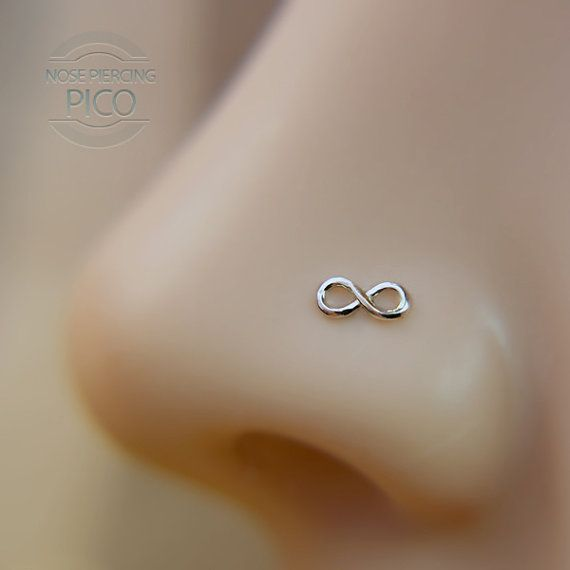 Nose Studs Nose Ring Nose Piercing Nose Jewelry 20G Dainty Gold Illuminating Moon Shape Nose Stud with Ball 7mm