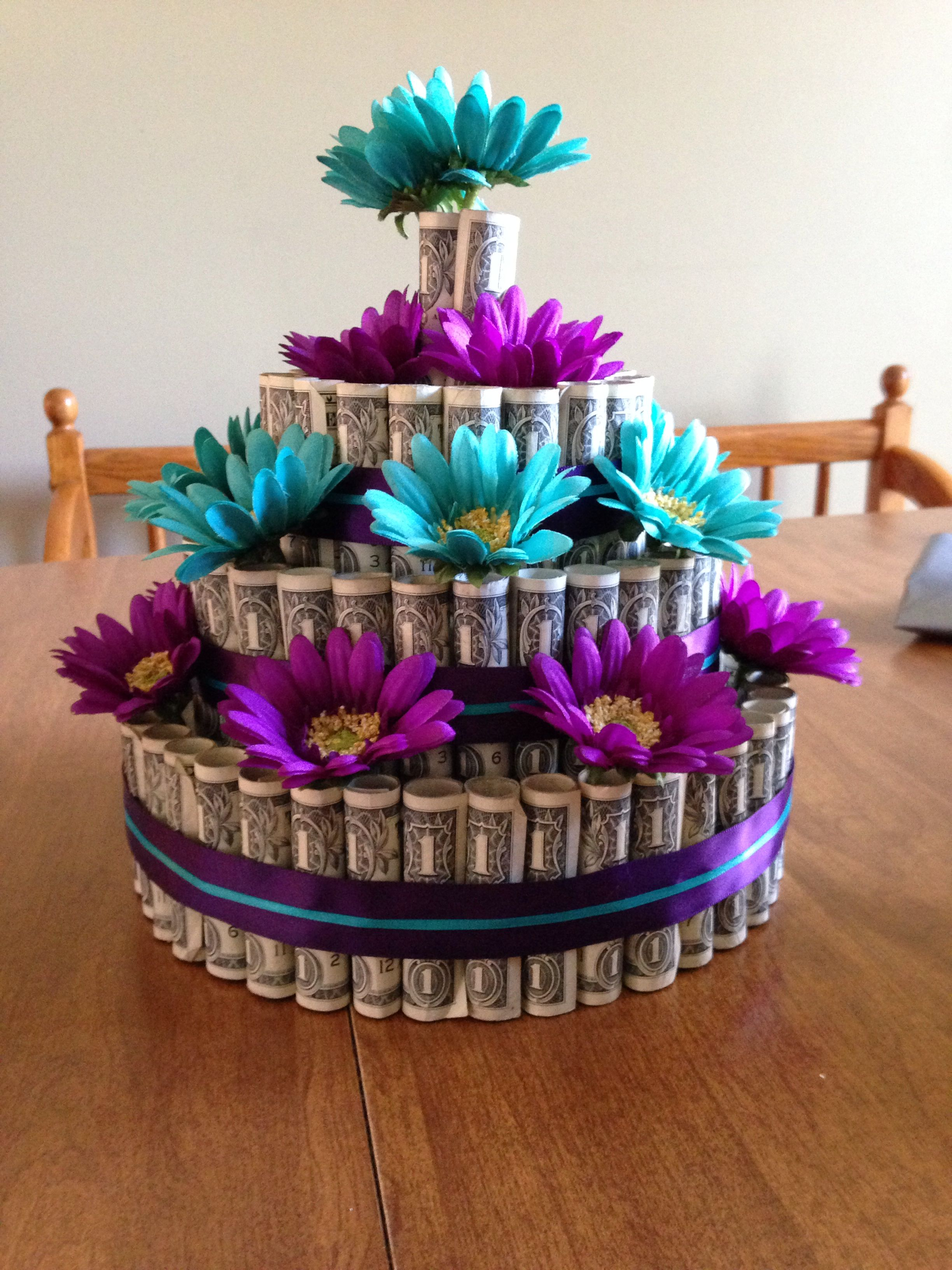 Wedding Gift For Brother Cash : Money Cake I made for my brother and sister in-laws wedding Money ...