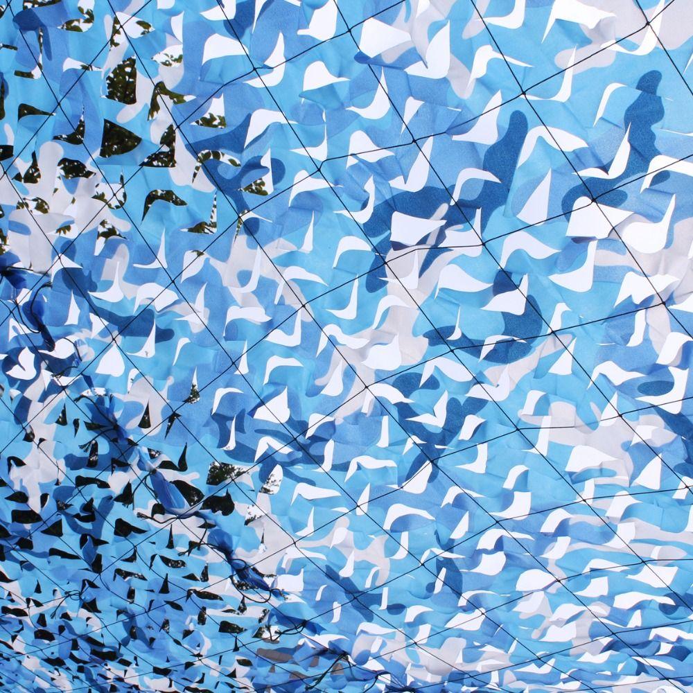 3 5m 5m filet camo netting blue camouflage netting for house decoration gazebo decoration - Filet camouflage pergola ...