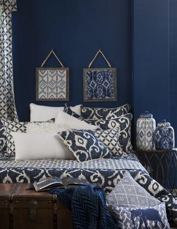 hanae indigo bedding range www madraslink com au stuff to buy rh pinterest com