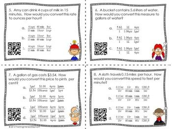 CONVERTING UNITS DIMENSIONAL ANALYSIS TASK CARDS COMMON CORE ALIGNED