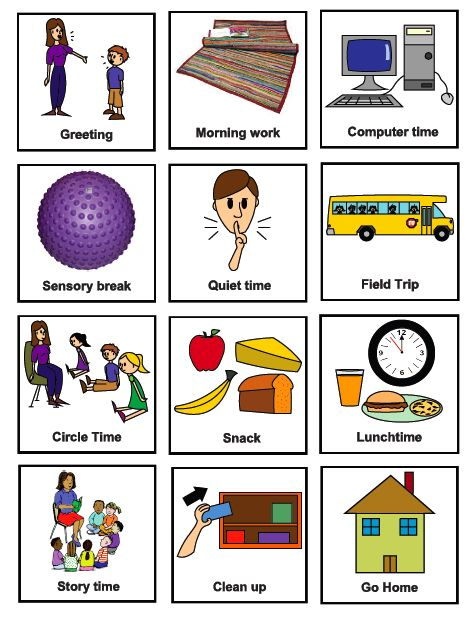 great printables to use with daily schedule gia learning unit ideas pinterest visual. Black Bedroom Furniture Sets. Home Design Ideas
