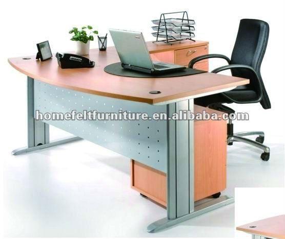 simple design metal legs cherry color wooden office furniture table rh pinterest com