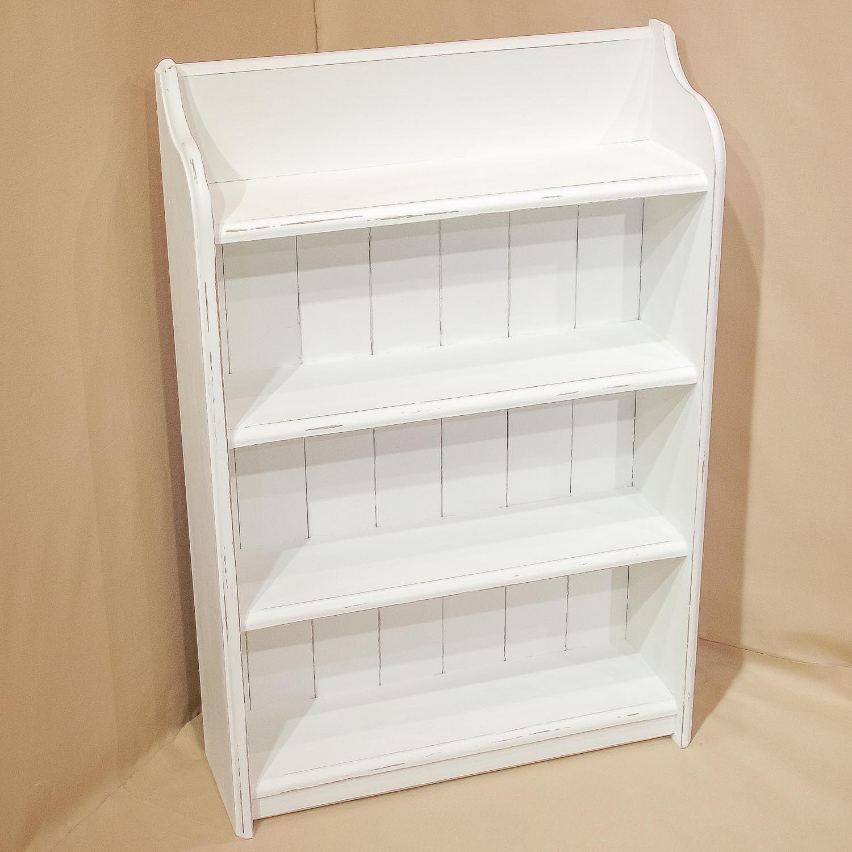 shabby chic decorating white shabby chic bookshelf hand rh pinterest com