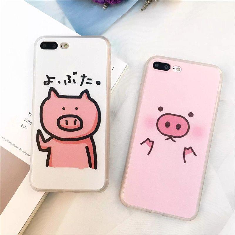 sweet cute cartoon pink pig phone case for apple iphone 7 6 6s 4 7 rh pinterest com