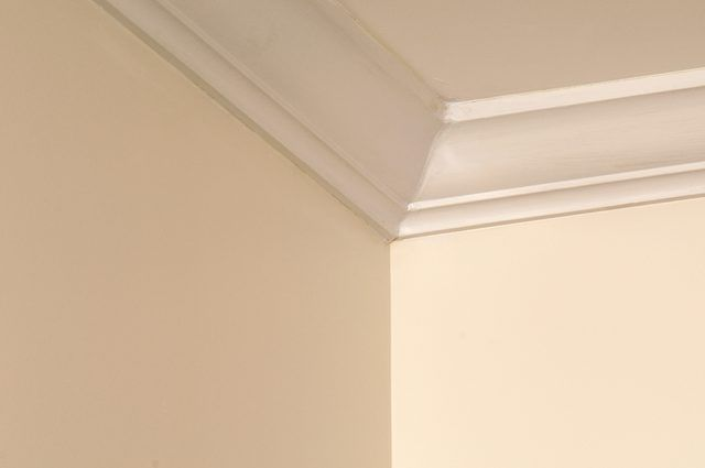 Will Crown Molding Make A Room Look Smaller Hunker Ceiling Trim Low Ceiling Room Paint