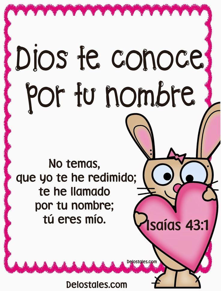α JESUS NUESTRO SALVADOR Ω: Dios te conoce por tu nombre, y te ha ...