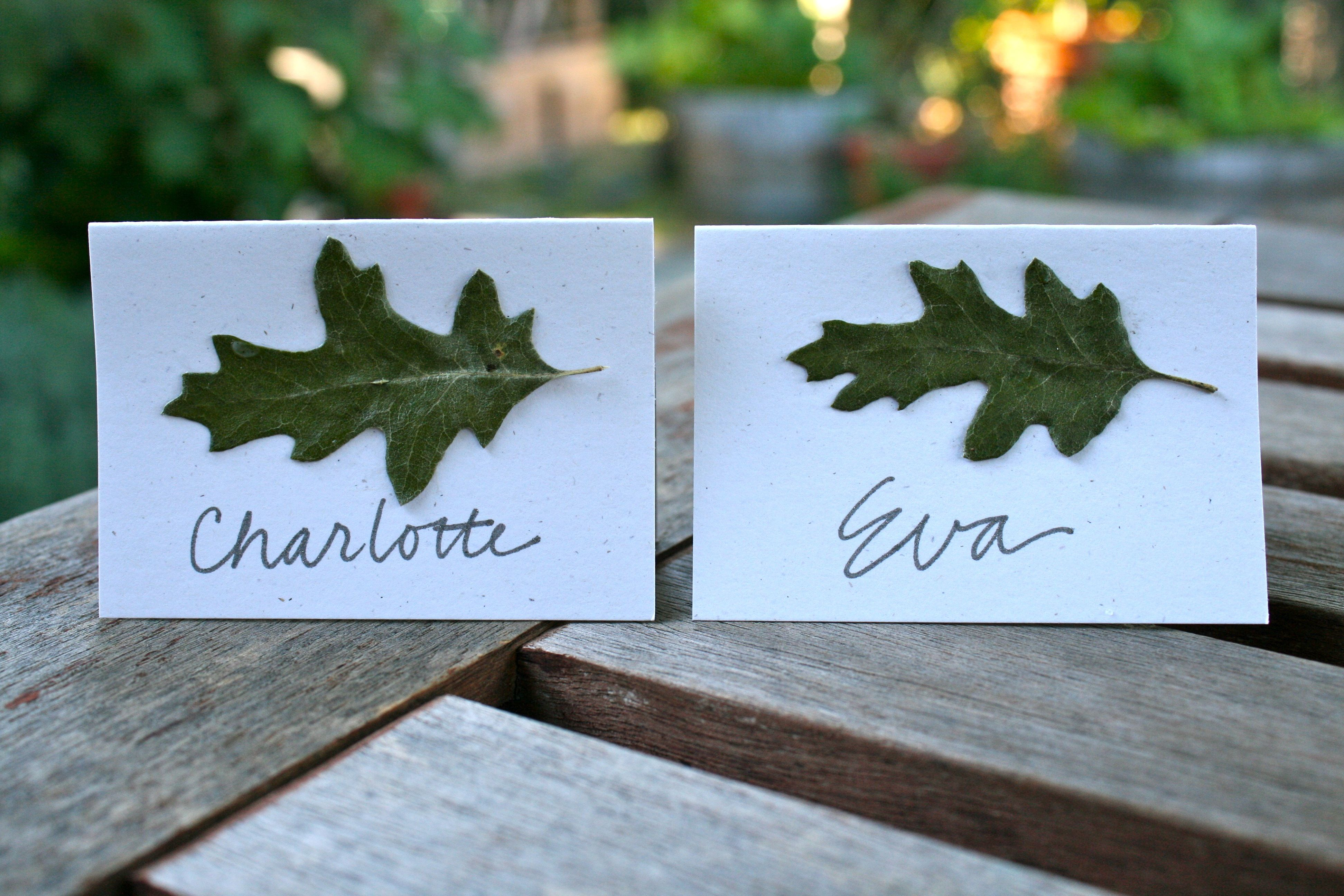 craft ideas for wedding place cards%0A The Martha Craft Challenge  Project OakLeaf Place Cards
