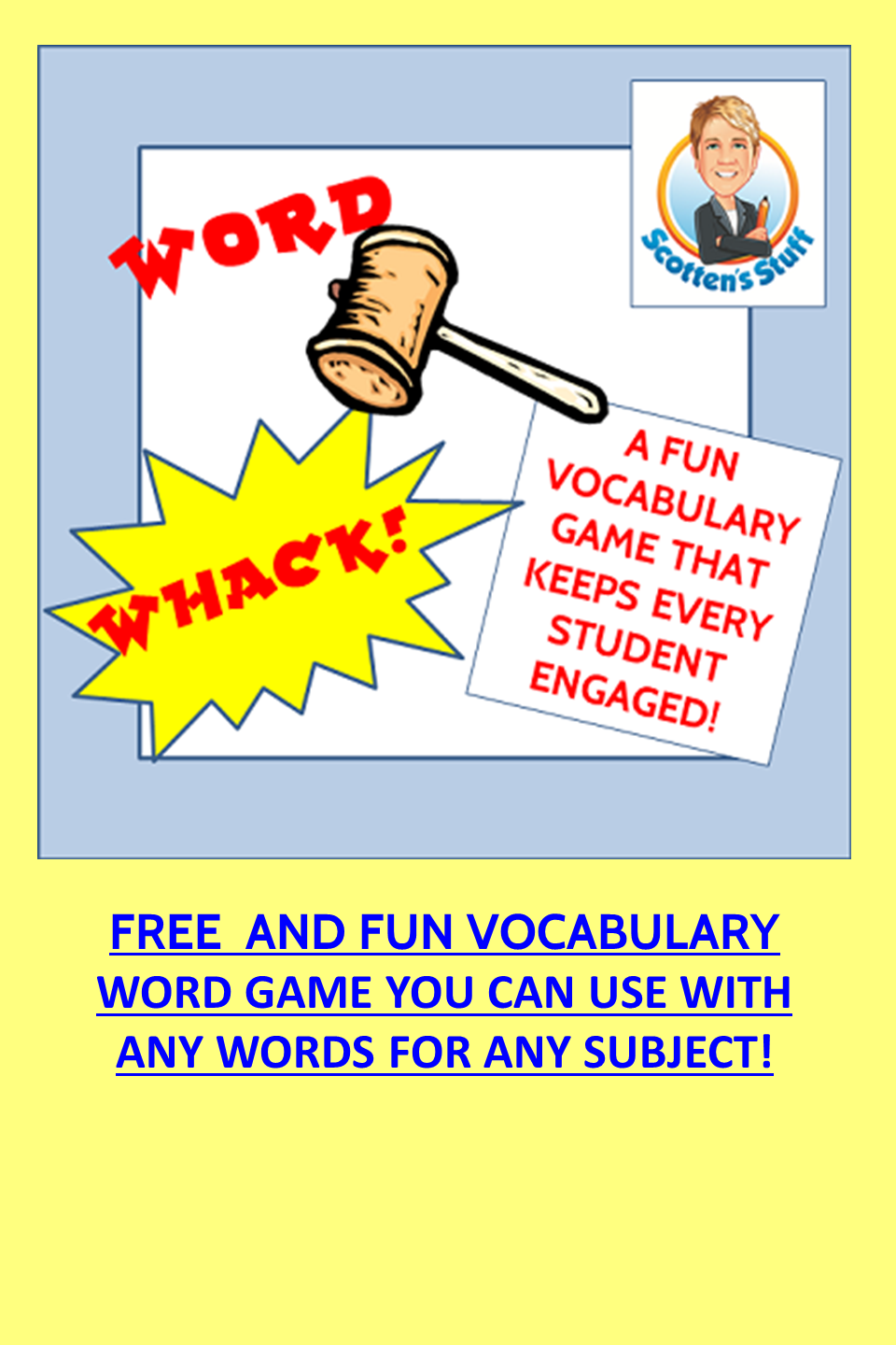 WordWhack Fun Vocabulary Game Vocabulary, Middle school