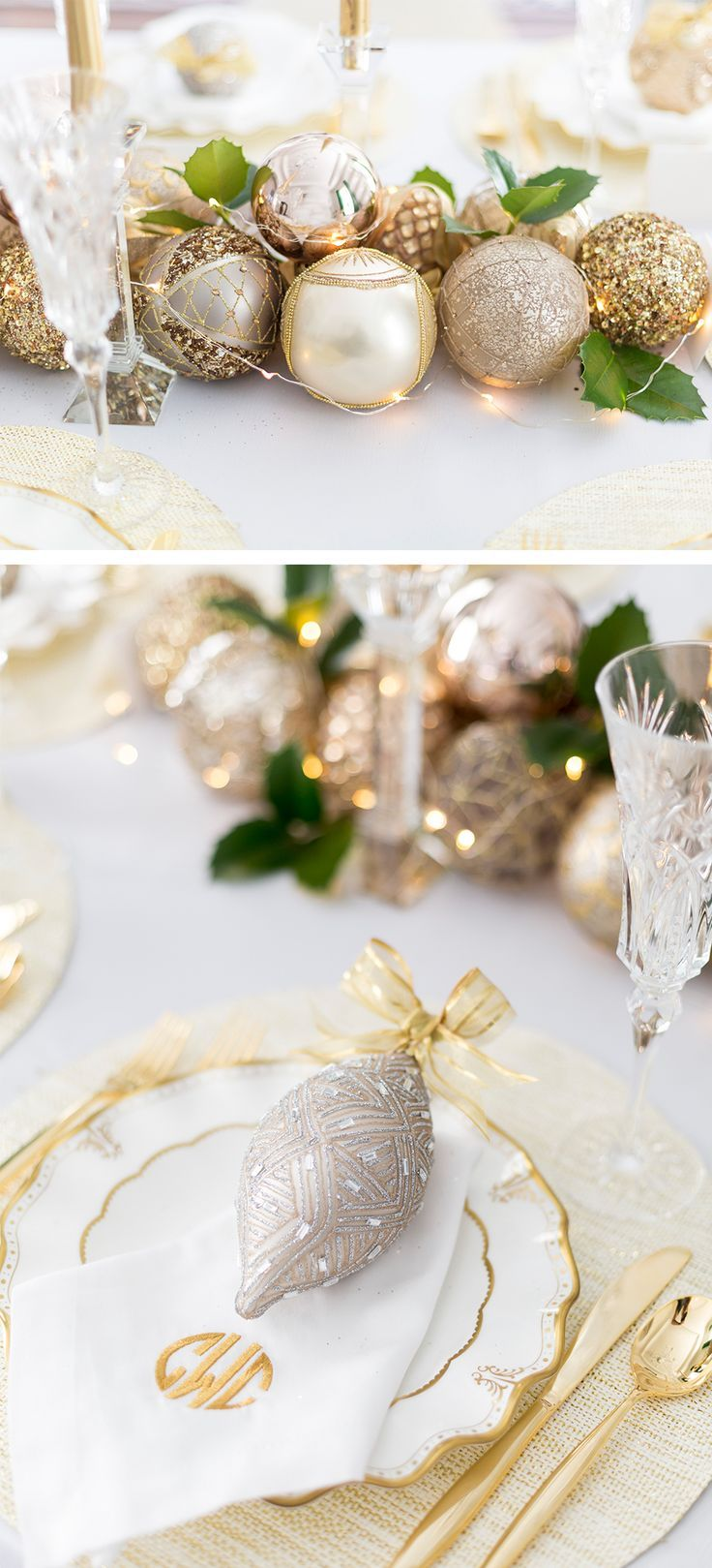 set your holiday table with glitz and glam a diy christmas rh pinterest com