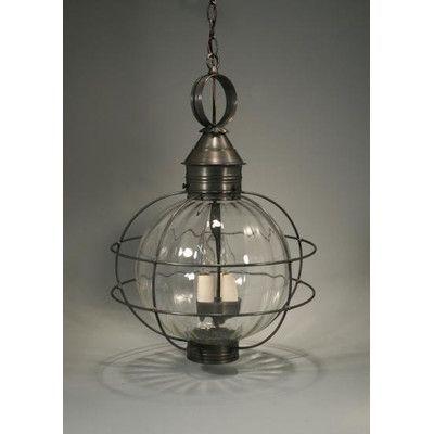 Northeast Lantern Onion 3-Light Outdoor Hanging Lantern ...