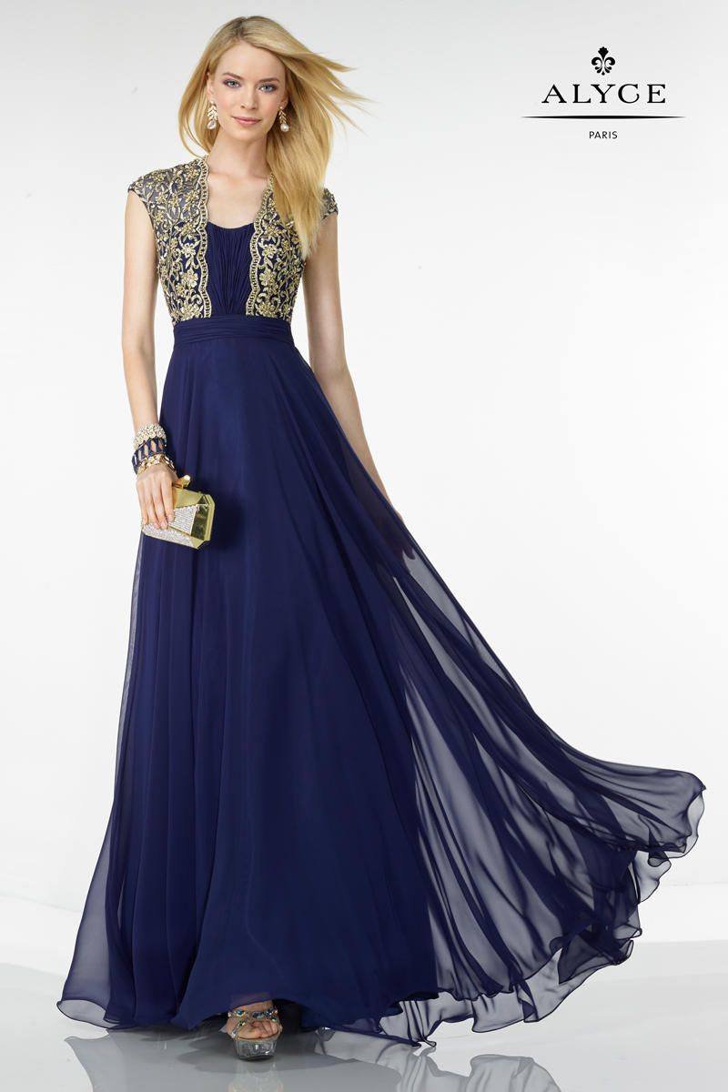 Alyce black label gown with embroidered bodice fashion n