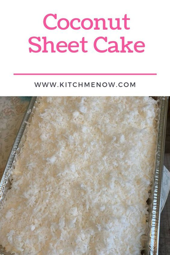 Coconut Sheet Cake Coconut Sheet Cake