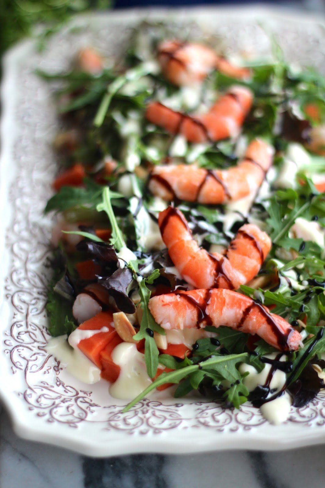 Salada de Camarão e Papaia - http://gostinhos.com/salada-de-camarao-e-papaia/