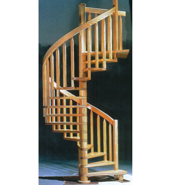 Ariane All Wood Spiral Stair (Sizes Available: 1100mm Up To 1900mm)