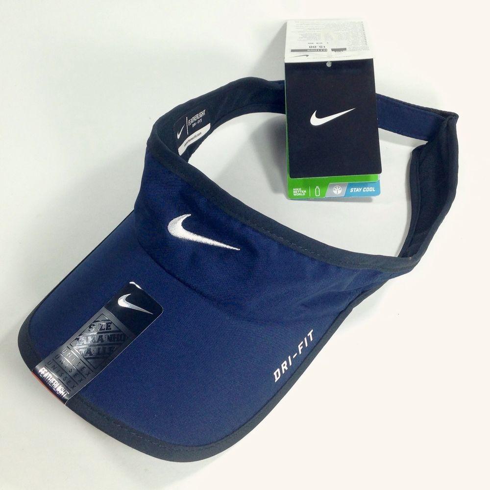 Nike Dri Fit Featherlight Athletic Visor Navy Blue Tennis Running NWT Men  Women  Nike  Visor c38615ab8a5