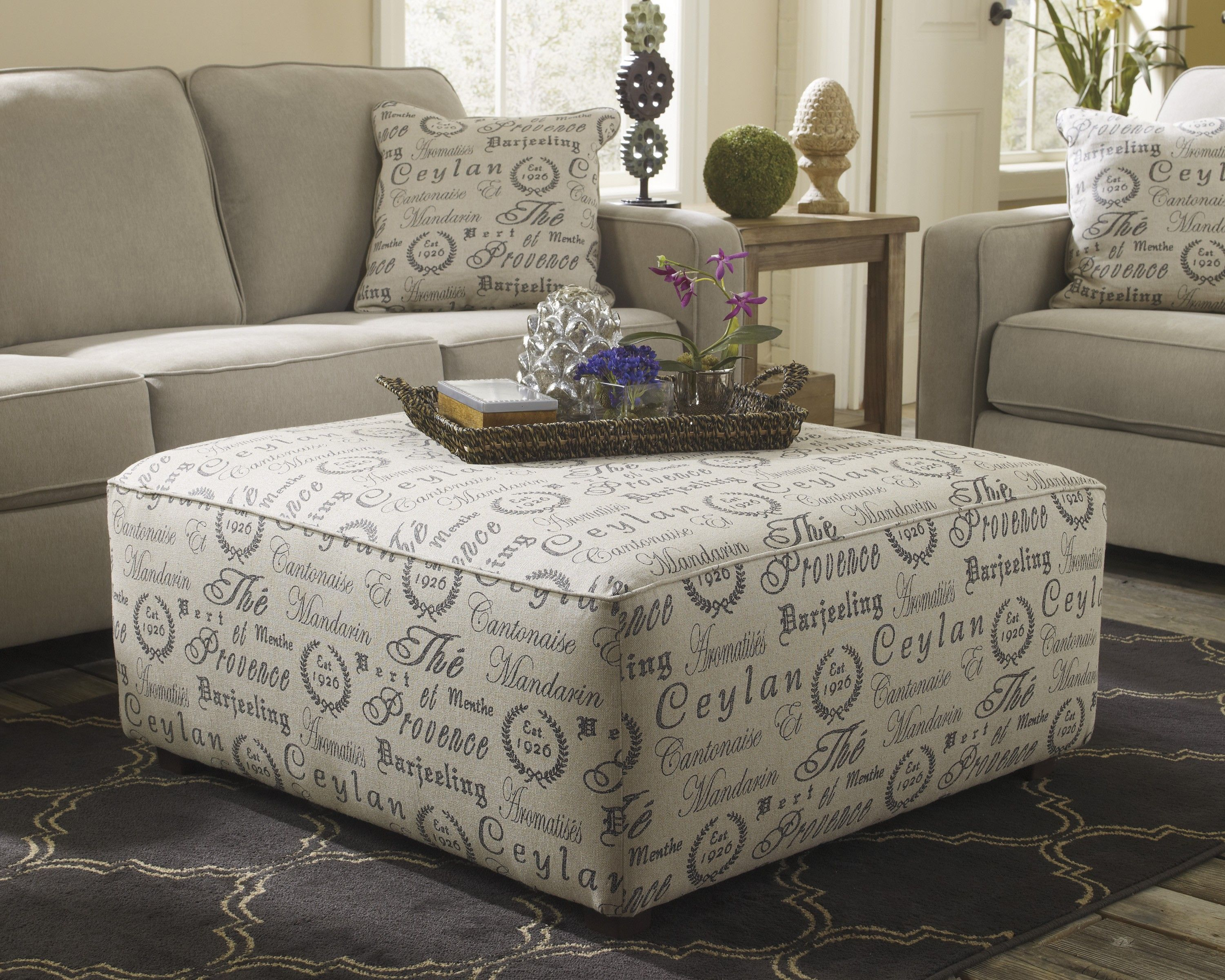Ordinaire Oversized Ottoman For Exciting Coffee Table Design: Decorative Oversized  Ottoman With Tray On Dark Walmart Rugs And Loveseat Furniture With  Decorative ...