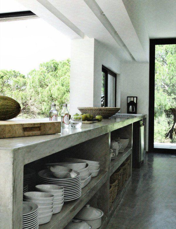 Las cocinas de cemento o concreto son cada vez m s for Barras de cocina de concreto