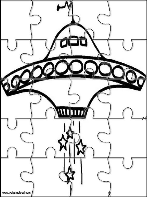 Printable jigsaw puzzles to cut out for kids Space 34 Coloring
