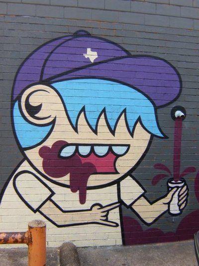 Familiar street art character seen around Houston.