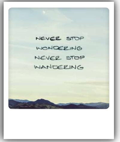 Never Stop Wondering Never Stop Wandering Postkarten Karten Poster