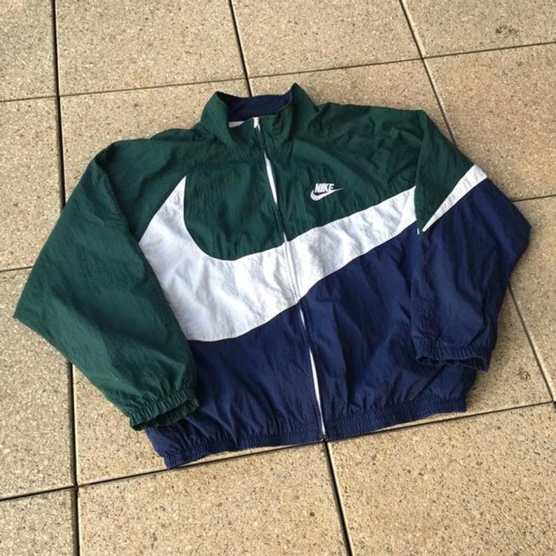 Classic Vintage Nike Big Swoosh Windbreaker Nike Jacket 90s Sports Double Sided Big Design Rare In 2020 Nike Jacket Vintage Nike Vintage Nike Jacket
