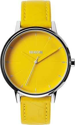 Need a side of sunshine? Pick up this pop of color from Nixon at SWELL. http://www.swell.com/New-Arrivals-Womens/NIXON-THE-KENSINGTON-LEATHER-WATCH?cs=YE