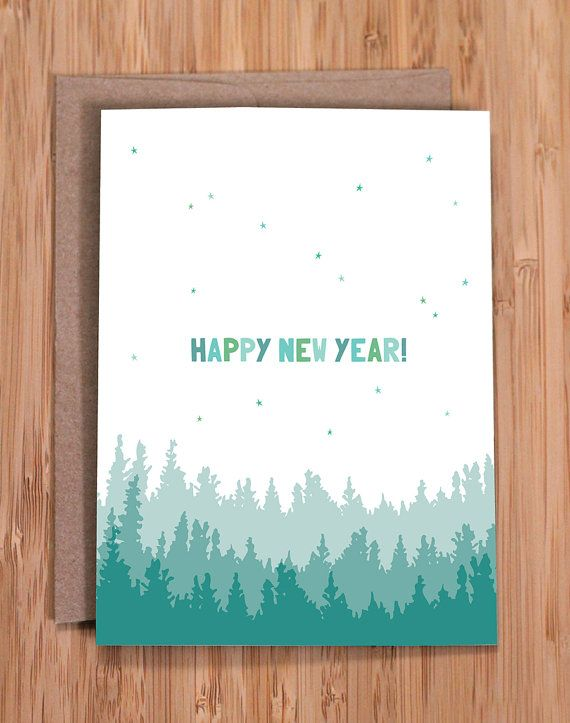 happy new year this simple and sweet nature inspired a2 card 4 x 55 is blank inside for your personal note it is digitally printed on
