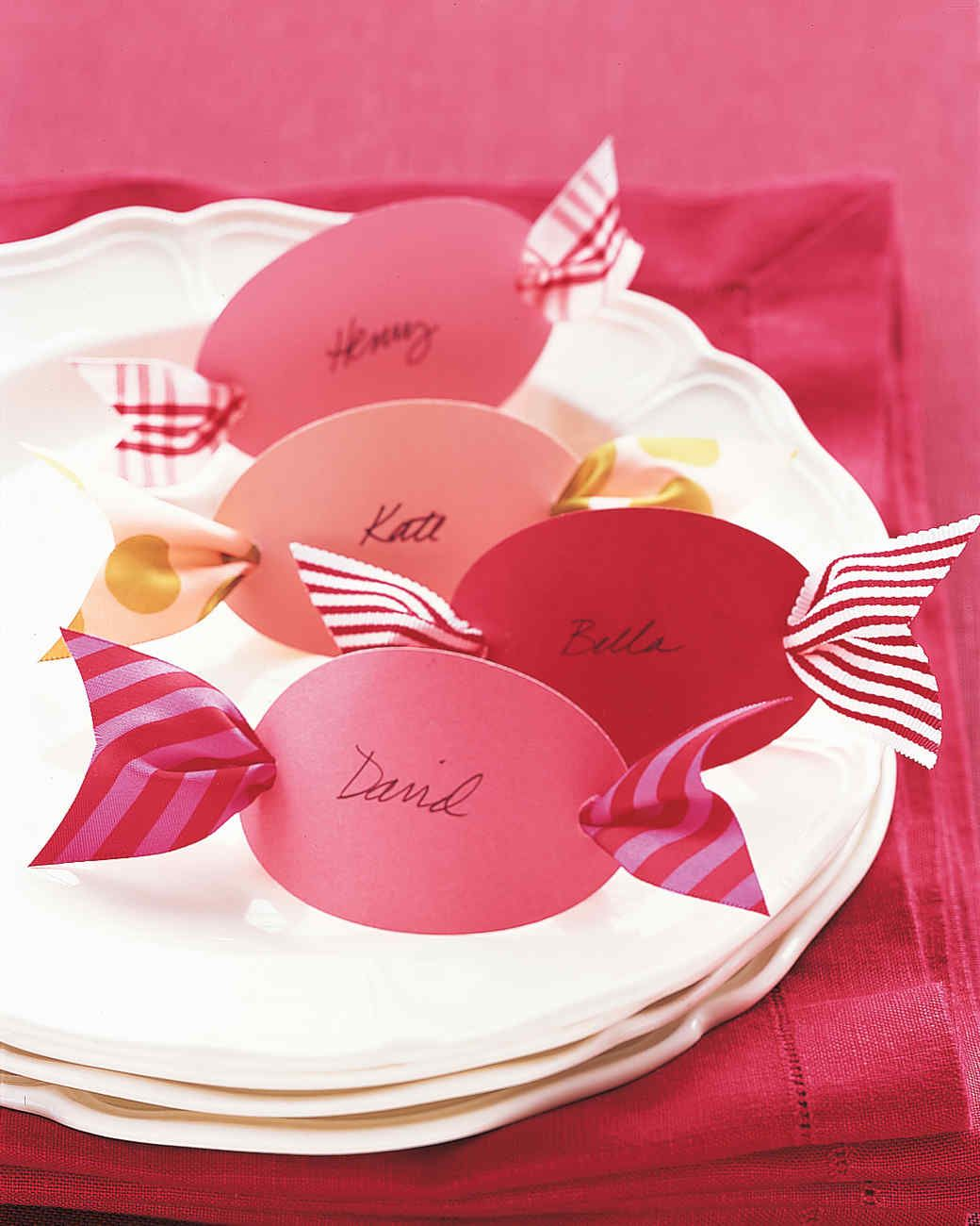 Set your table for a holiday get-together with our homemade place cards.
