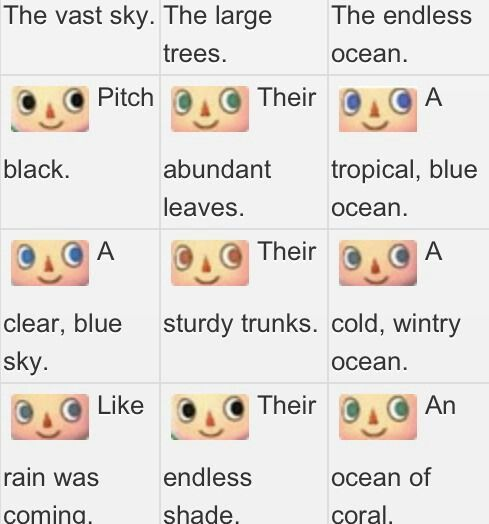 Animal Crossing New Leaf Guide To Eye Color