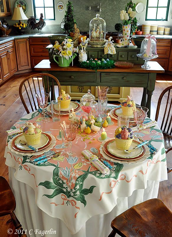 Another beautiful Easter table setting from www.thelittleroundtable ...