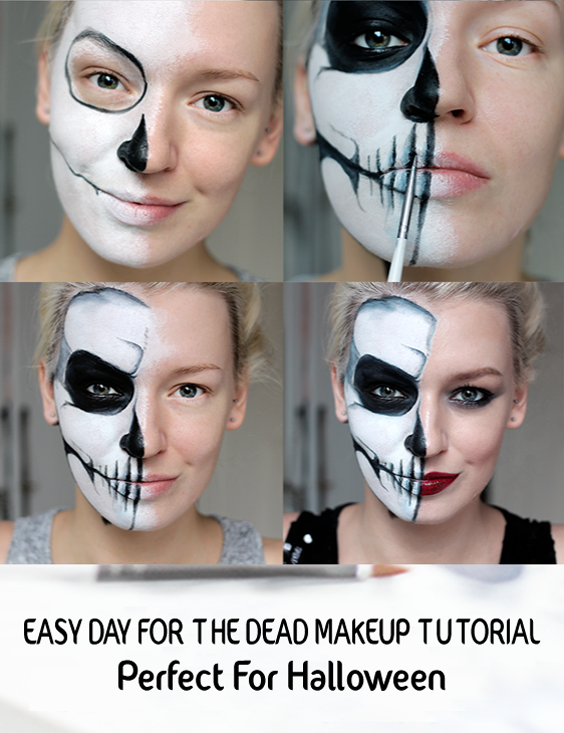 deac9f8d062 Easy Day of the Dead Makeup ideas Perfect for Halloween   Halloween ...
