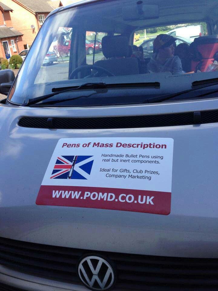 Watch out for the POMD car in Shropshire.