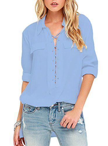 Sidefeel Women Long Sleeve Collared Lace-up Top Blouse Me... https://www.amazon.com/dp/B01M3R0Z9F/ref=cm_sw_r_pi_dp_x_ggWRyb83JJ4H1